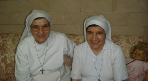 (l-r) Sr. Bertilla and Sr. Lucia
