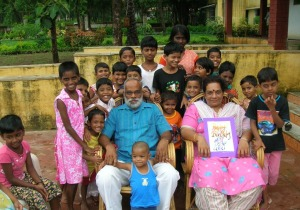 Victor and Rajashri Bansiwar with the children