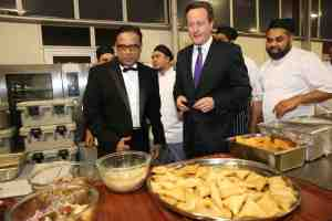 Enam Ali MBE, David Cameron and chefs at British Curry Awards 2013